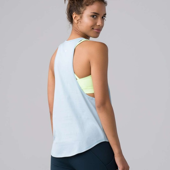 2a23fc291b lululemon athletica Tops - Lululemon Sweat Date Tank Pima Cotton Pure Blue